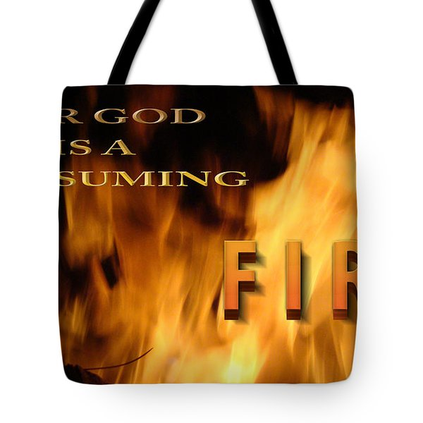 Consuming Fire Tote Bag by Beverly Guilliams