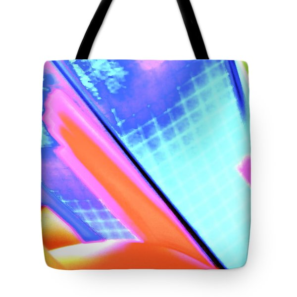 Consuming The Grid Tote Bag by Xn Tyler
