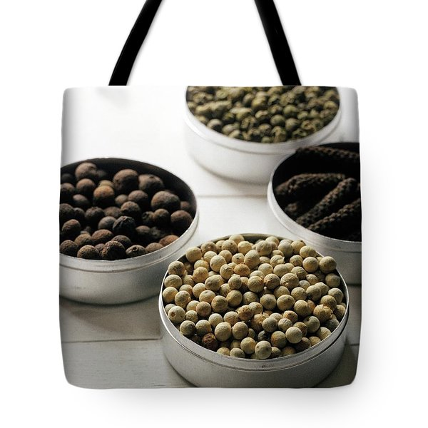 Containers Of Peppers Tote Bag