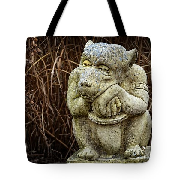 Contemplating Autumn Tote Bag by Mary Machare