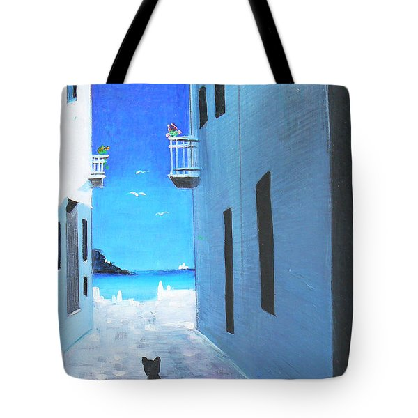 Tote Bag featuring the painting Contemplating by S G