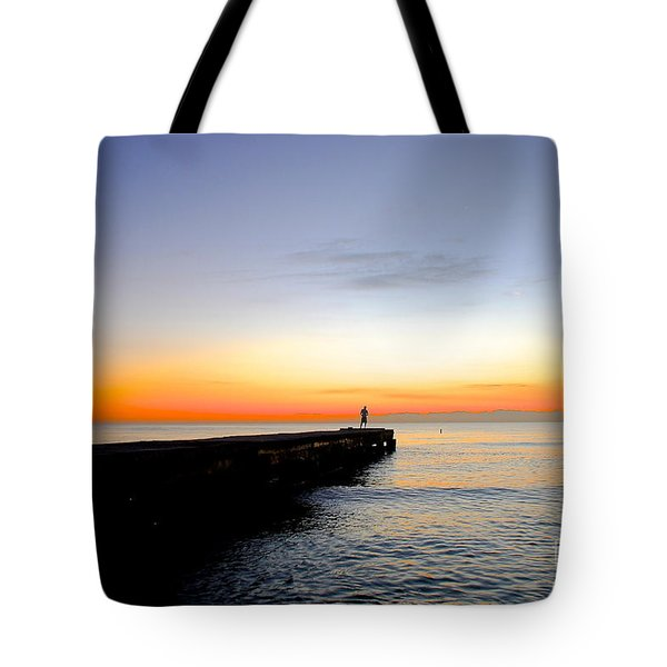 Contemplating The Meaning Of Life Tote Bag by Margie Amberge