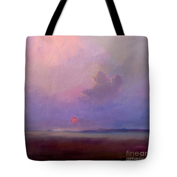 Contemplation At Sunset Tote Bag