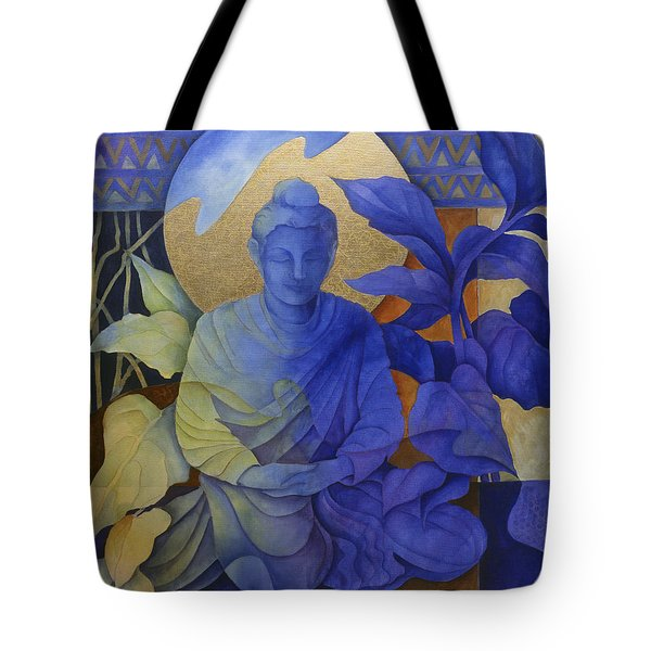 Contemplation - Buddha Meditates Tote Bag by Susanne Clark