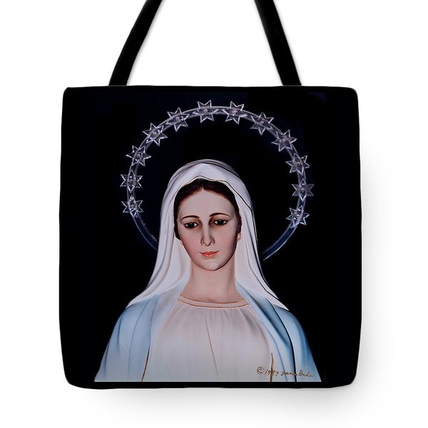 Contemplative Our Lady Queen Of Peace  Tote Bag