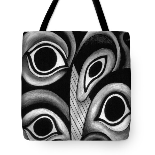 contemporary fantasy art - Eyes in the Woods Tote Bag