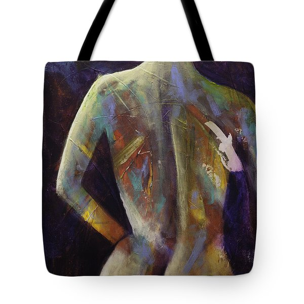 Contemporary Nude Woman Portrait Expressionist Style Tote Bag