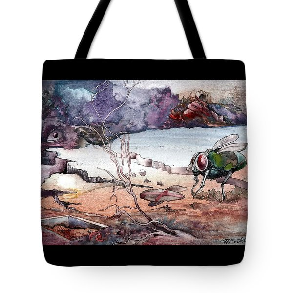 Tote Bag featuring the painting Contest by Mikhail Savchenko