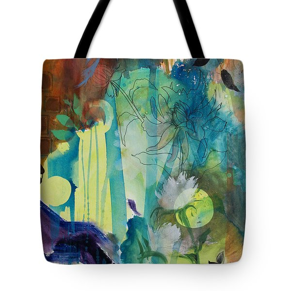 Tote Bag featuring the painting Continuum by Robin Maria Pedrero