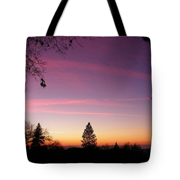 Contrail Streaks Tote Bag by Tom Mansfield