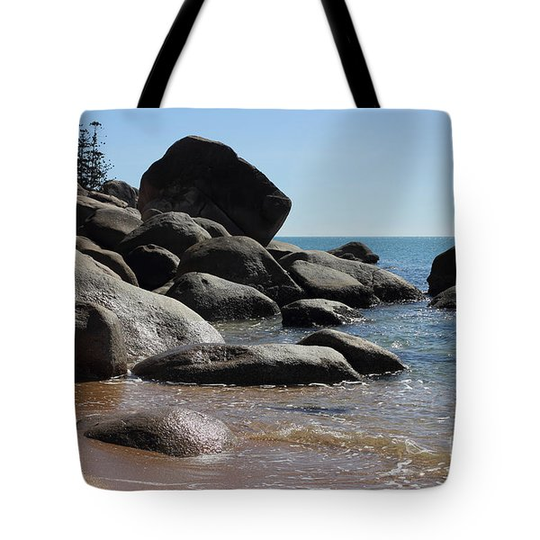 Contrast Tote Bag by Jola Martysz