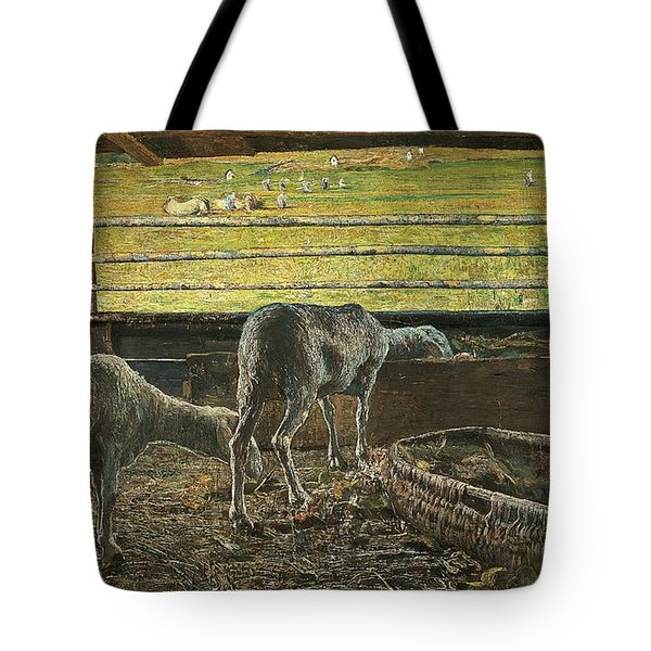 Contrast Of Light Tote Bag by Giovanni Segantini