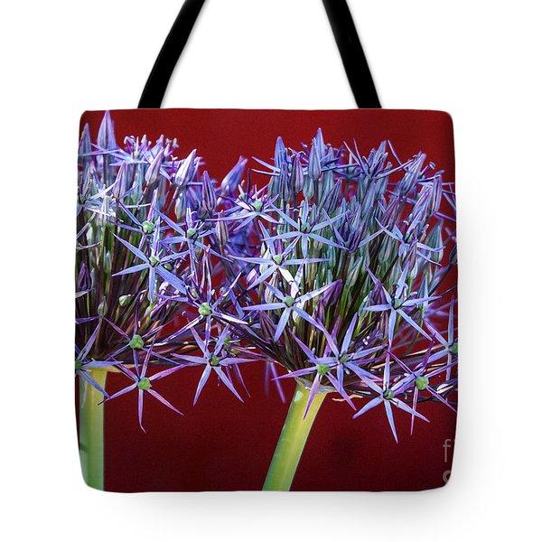 Flowering Onions Tote Bag