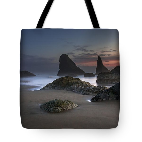 Contrasting Partners..... Bandon Oregon Tote Bag
