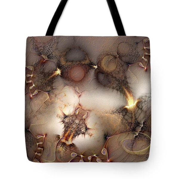 Tote Bag featuring the digital art Controversy by Casey Kotas