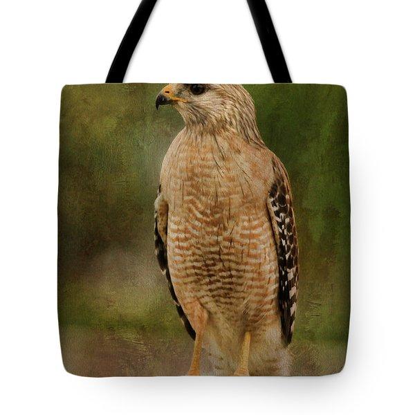Convenience Store Hawk Tote Bag by Deborah Benoit