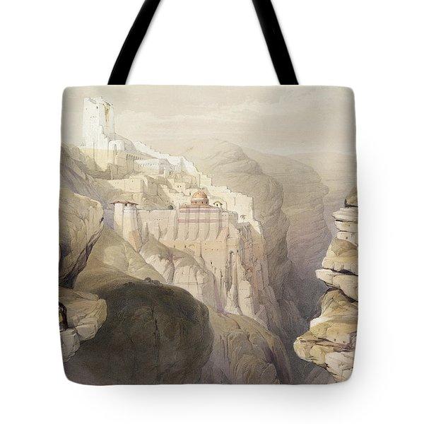 Convent Of St. Saba, April 4th 1839 Tote Bag