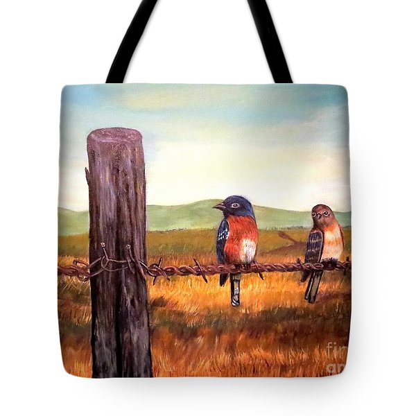 Conversation With A Fencepost Tote Bag