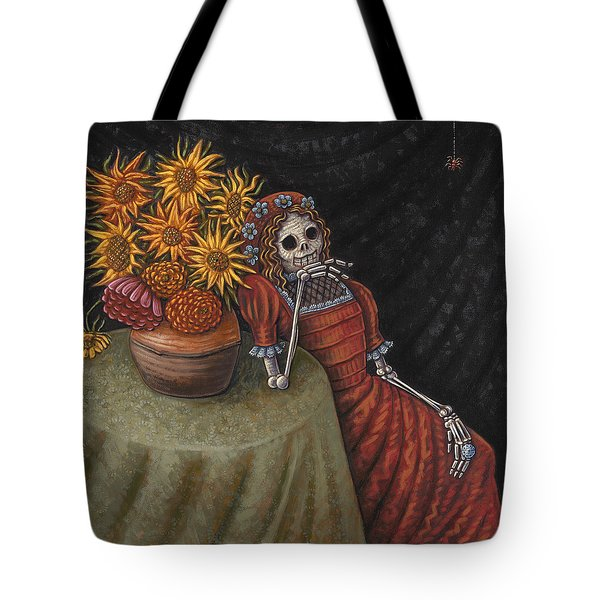 Conversation With A Spider Tote Bag