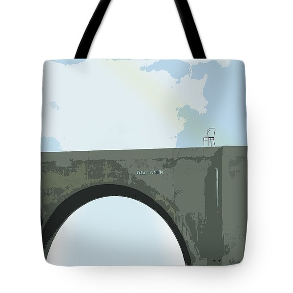 Tote Bag featuring the digital art Conversations With Myself by Ken Walker