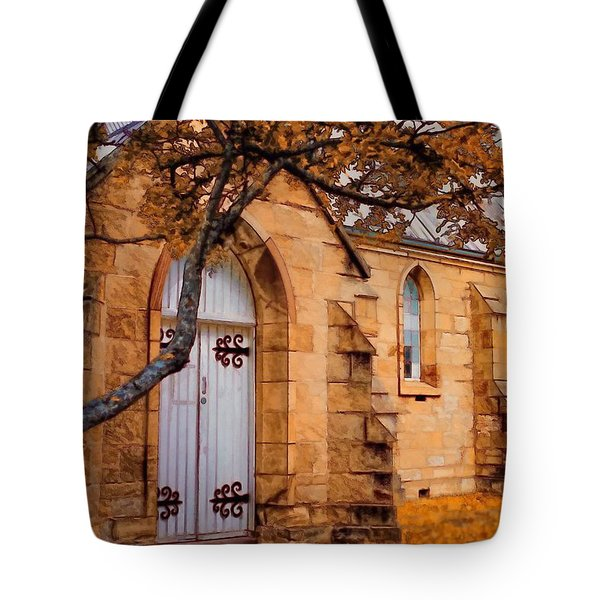 Convict Built Church 1873 Tote Bag by Wallaroo Images