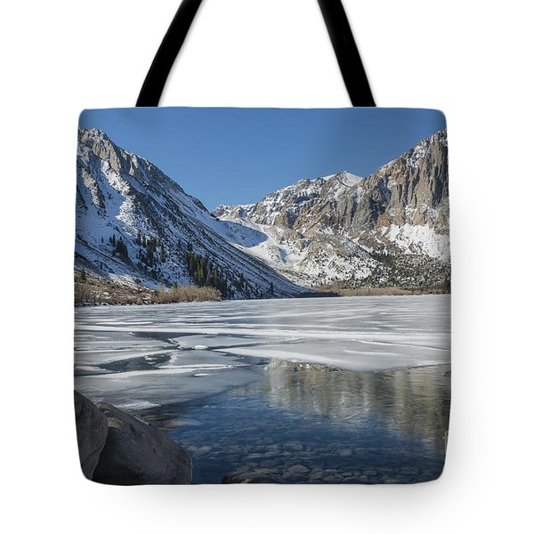 Convict Lake Morning Tote Bag by Sandra Bronstein
