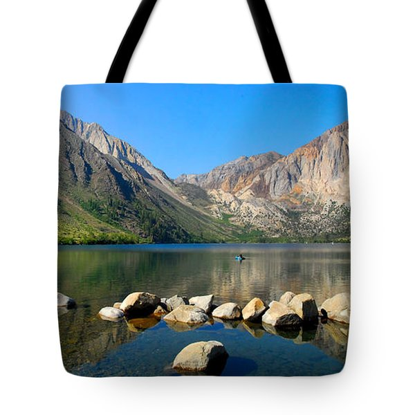 Convict Lake Panorama Tote Bag