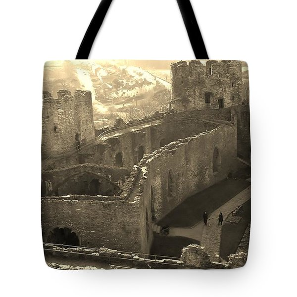 Conwy Castle Tote Bag by Richard Brookes