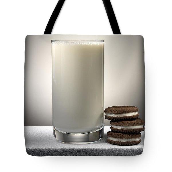 Cookies And Milk Tote Bag by Robert Mollett