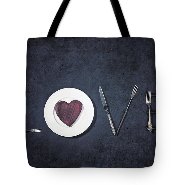 Cooking With Love Tote Bag by Joana Kruse