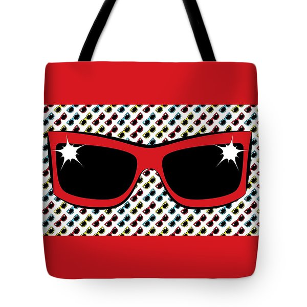 Cool 90's Sunglasses Red Tote Bag
