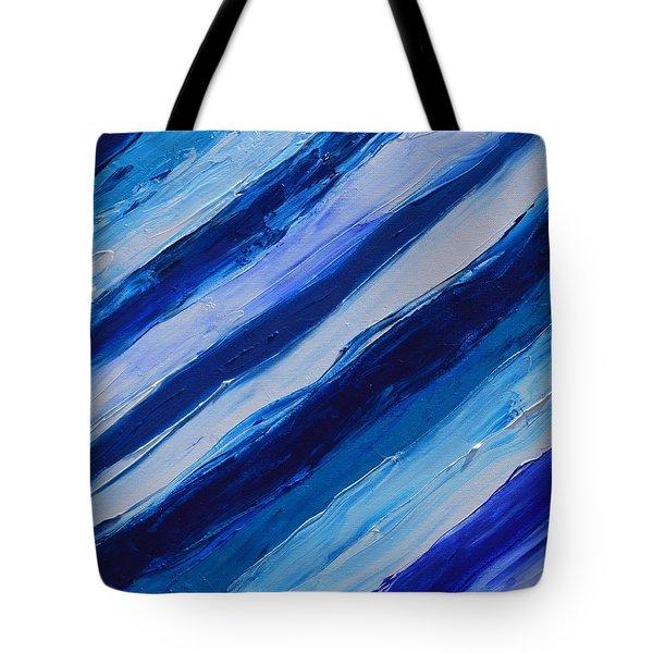 Cool Azul Tote Bag by Donna  Manaraze
