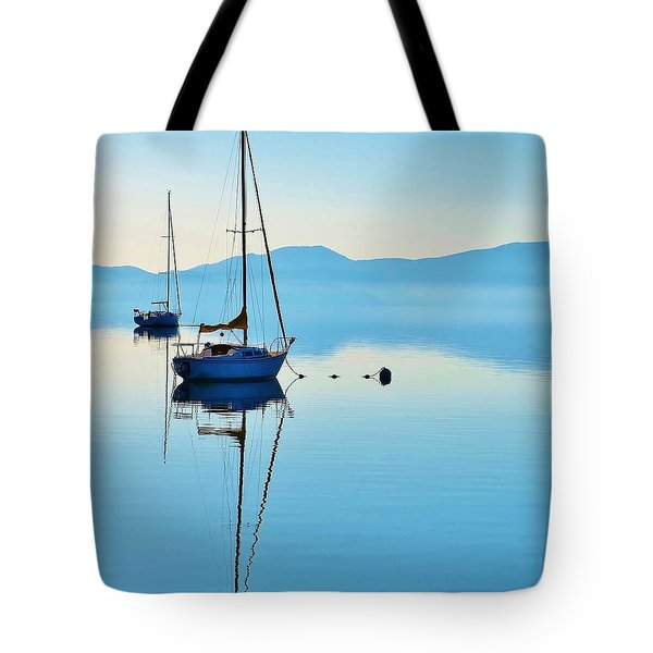 Cool Blue Tahoe Sail Tote Bag