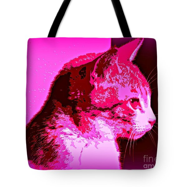 Tote Bag featuring the photograph Cool Cat by Clare Bevan