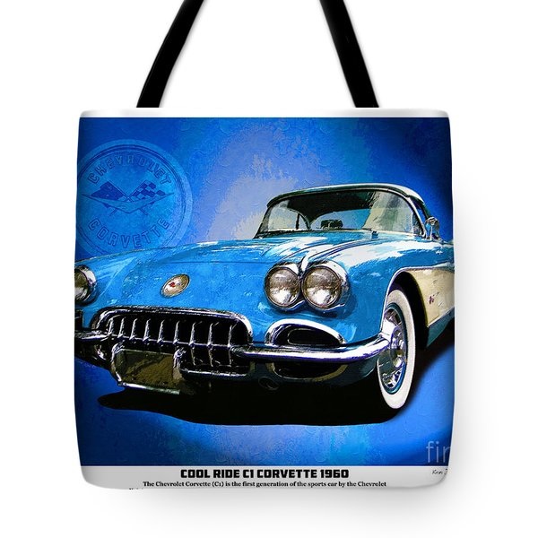 Tote Bag featuring the photograph Cool Corvette by Kenneth De Tore