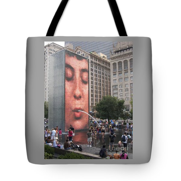 Cool Crowd Tote Bag by Ann Horn