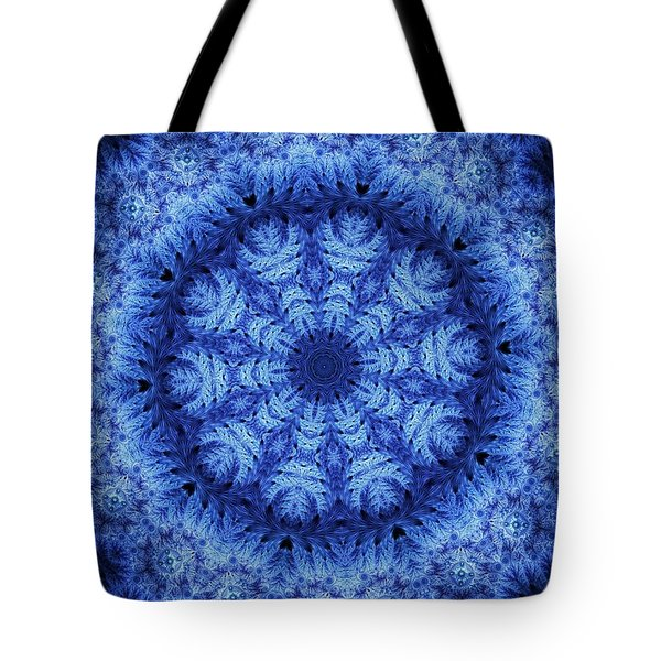 Tote Bag featuring the digital art Cool Down Series #1 Snowflake by Lilia D