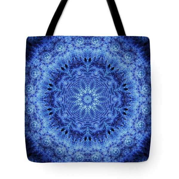Tote Bag featuring the digital art Cool Down Series #2 Frozen by Lilia D
