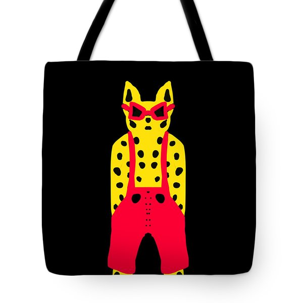 Cool For Cats In Red Dungarees Tote Bag