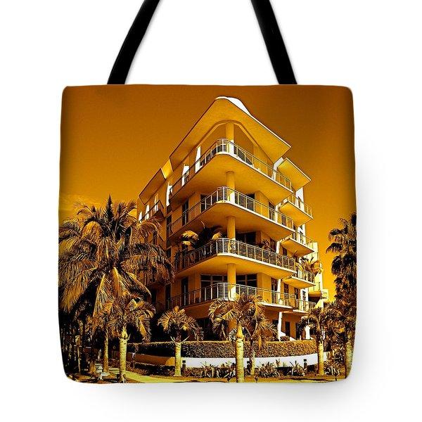 Cool Iron Building In Miami Tote Bag