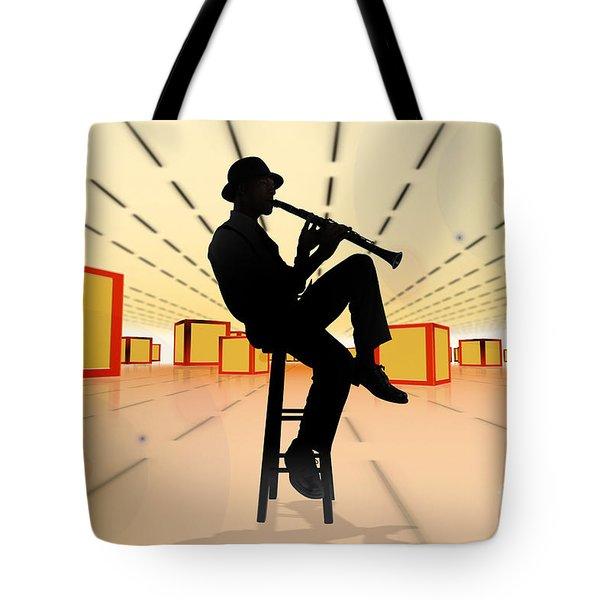 Cool Jazz 3 Tote Bag by Bedros Awak