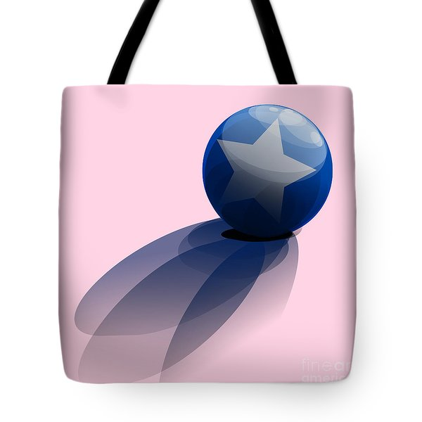 Blue Ball Decorated With Star Tote Bag