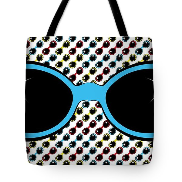 Cool Retro Blue Sunglasses Tote Bag