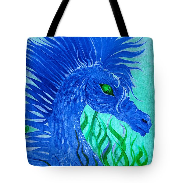 Cool Sea Horse Tote Bag by Adria Trail