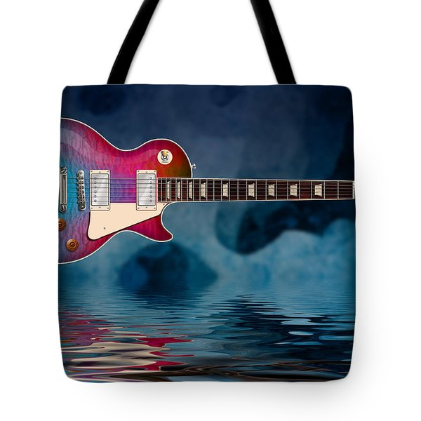 Cool Tiedye Les Paul Tote Bag