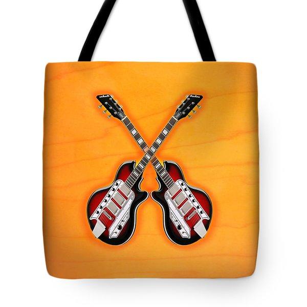 Cool Vintage Guitar Tote Bag by Doron Mafdoos