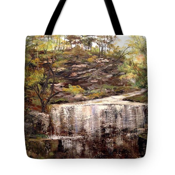 Cool Waterfall Tote Bag