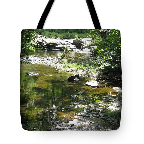 Tote Bag featuring the photograph Cool Waters by Ellen Levinson