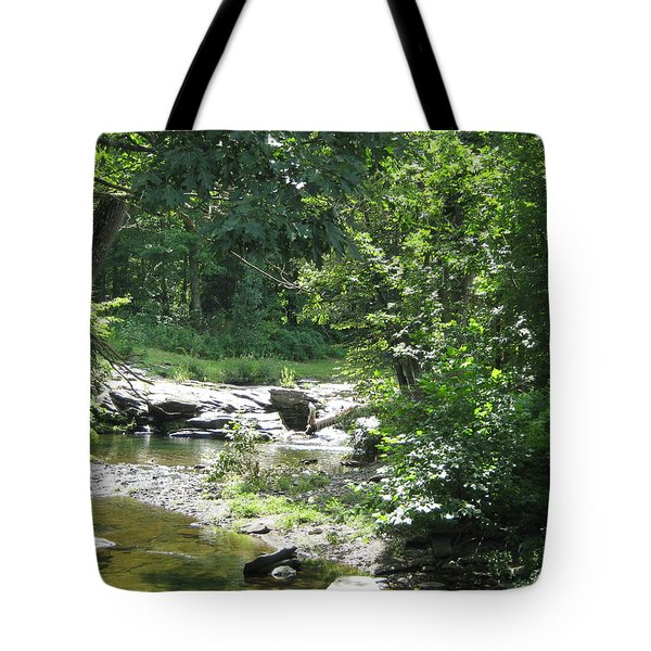 Tote Bag featuring the photograph Cool Waters II by Ellen Levinson