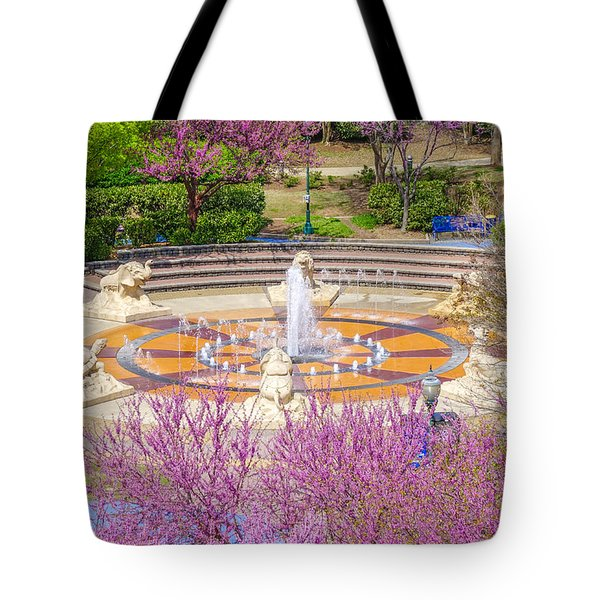 Coolidge Park Fountain In Spring Tote Bag